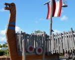 Vikingelegeplads Lundeborg - alle sejl er sat